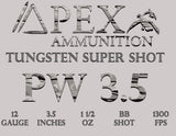 PW-3.5: 12 gauge 1.5oz 1300 FPS Qty: 10 per box