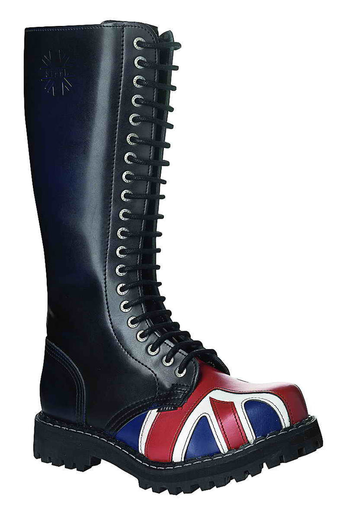 BRITISH FLAG - BREXIT SPECIAL 20-eyelet Boots Steel Toe