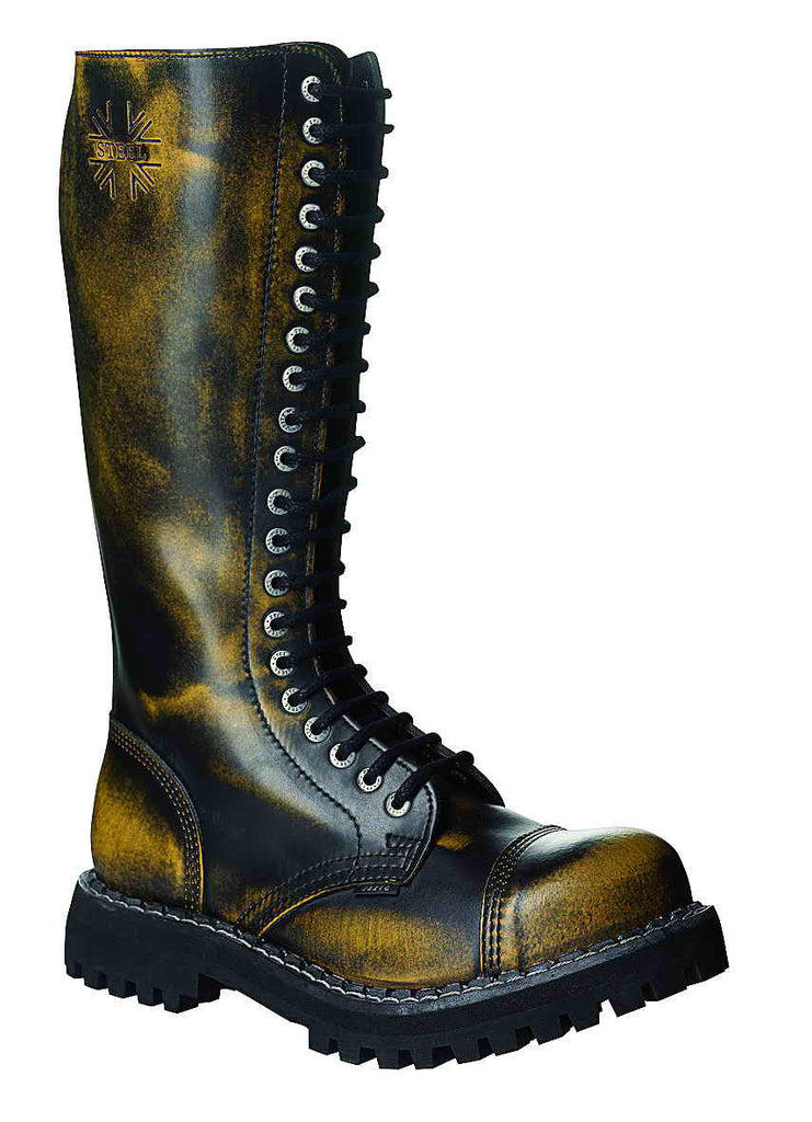 YELLOW URBAN 20-eyelet Boots Steel Toe