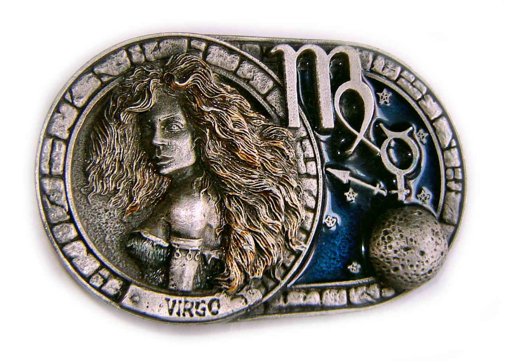 ASTROLOGICAL SIGN-ZODIAC: VIRGO Belt BUCKLE Vintage