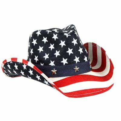Classic COWBOY HAT - USA FLAG - SPECIAL PRICE!