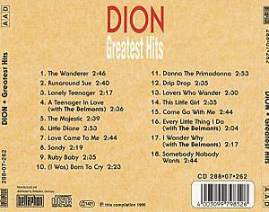 DION (of DION & THE BELMONTS) - GREATEST HITS CD