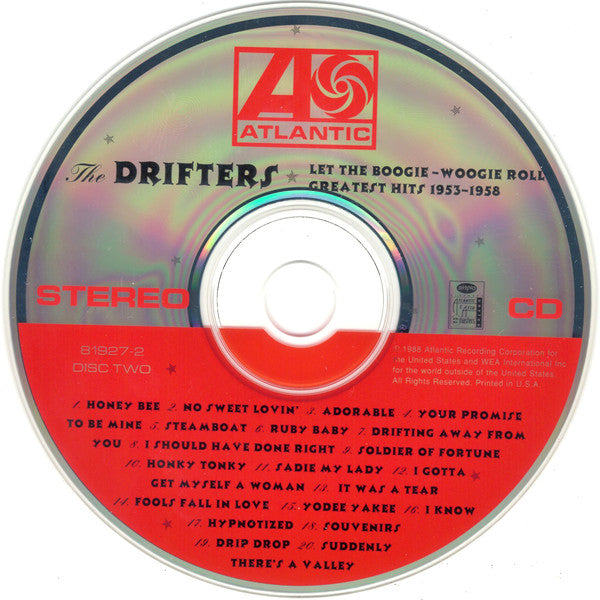 DRIFTERS (THE) - LET THE BOOGIE-WOOGIE ROLL - GREATES HITS 1953-1957 2CD Exceptional Very Rare CD
