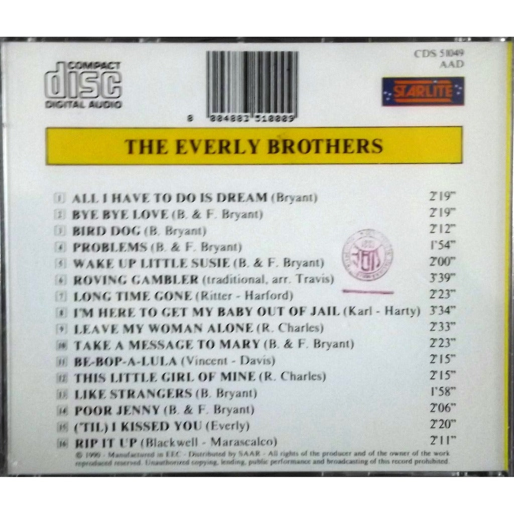 EVERLY BROTHERS - All I Have To Do is Dream CD