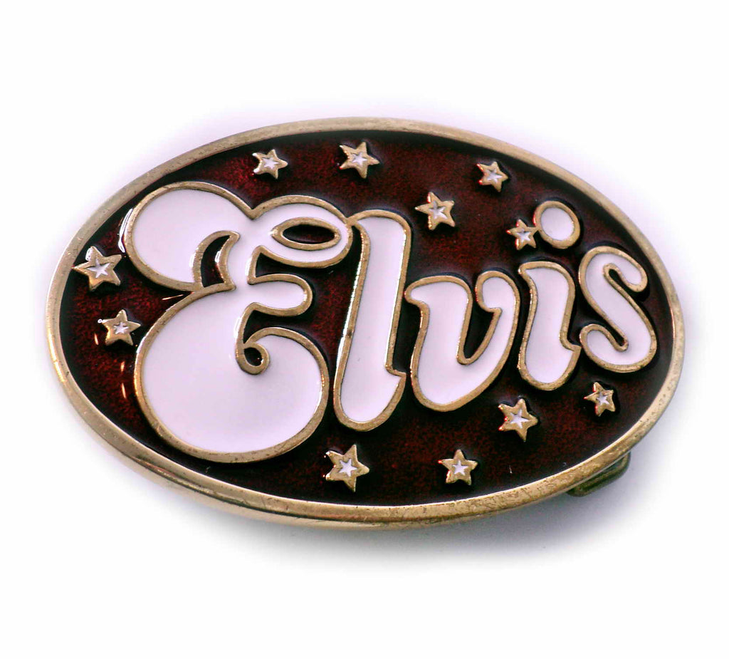 ELVIS PRESLEY - KING OF ROCKNROLL Collectible Rare Official Vintage- Belt BUCKLE