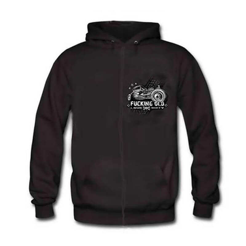 F.CKING OLD - LOUD & DIRTY RAT ROD HOODIE Limited Edition