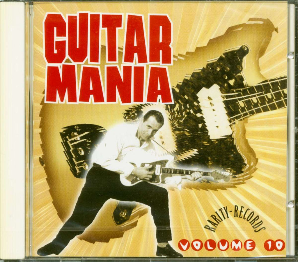 GUITAR MANIA - VOL. 10 (Instrumental 50's-60's Style Rockin' Treasures) CD