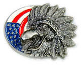 INDIAN EAGLE USA Flag Belt BUCKLE