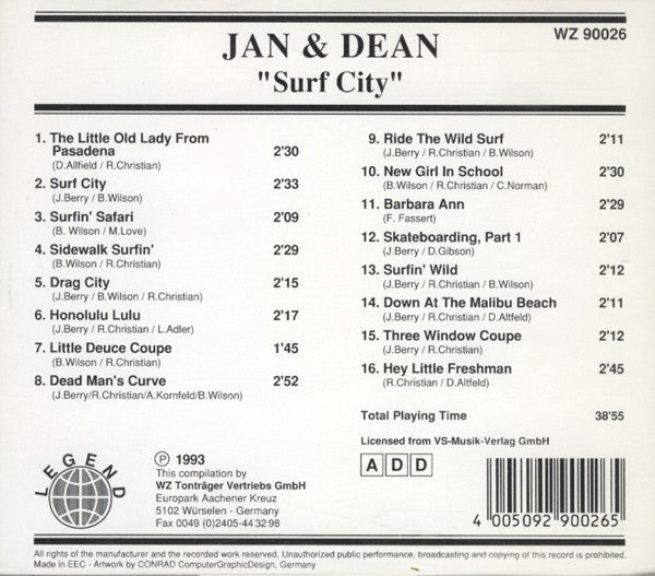 JAN & DEAN - Surf City CD