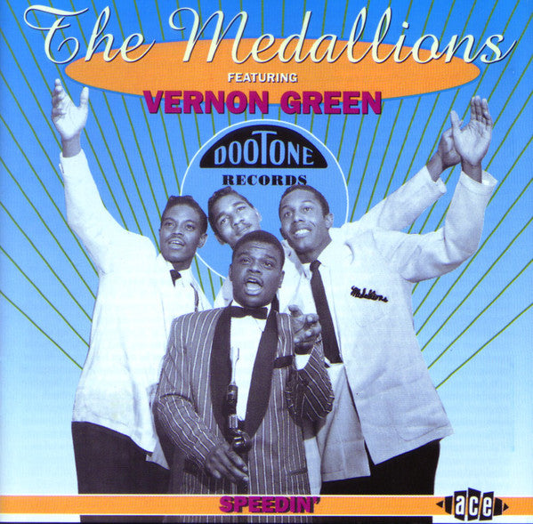 MEDALLIONS (THE) Featuring VERNON GREEN - SPEDIN' 25 Tracks! Exceptional Very Rare CD