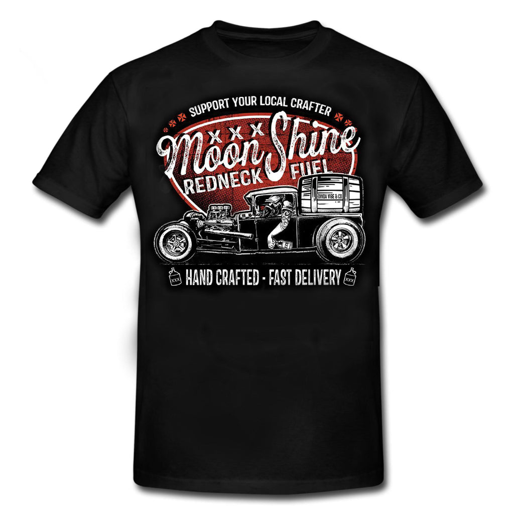 "MOONSHINE - ""REDNECK FUEL""HOT ROD Rockabilly T-Shirt"