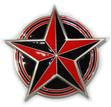 NAUTICAL STAR Red Belt BUCKLE