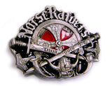 "NORSE RAIDERS CROSS ""THOR - ODIN"" Viking Belt BUCKLE"