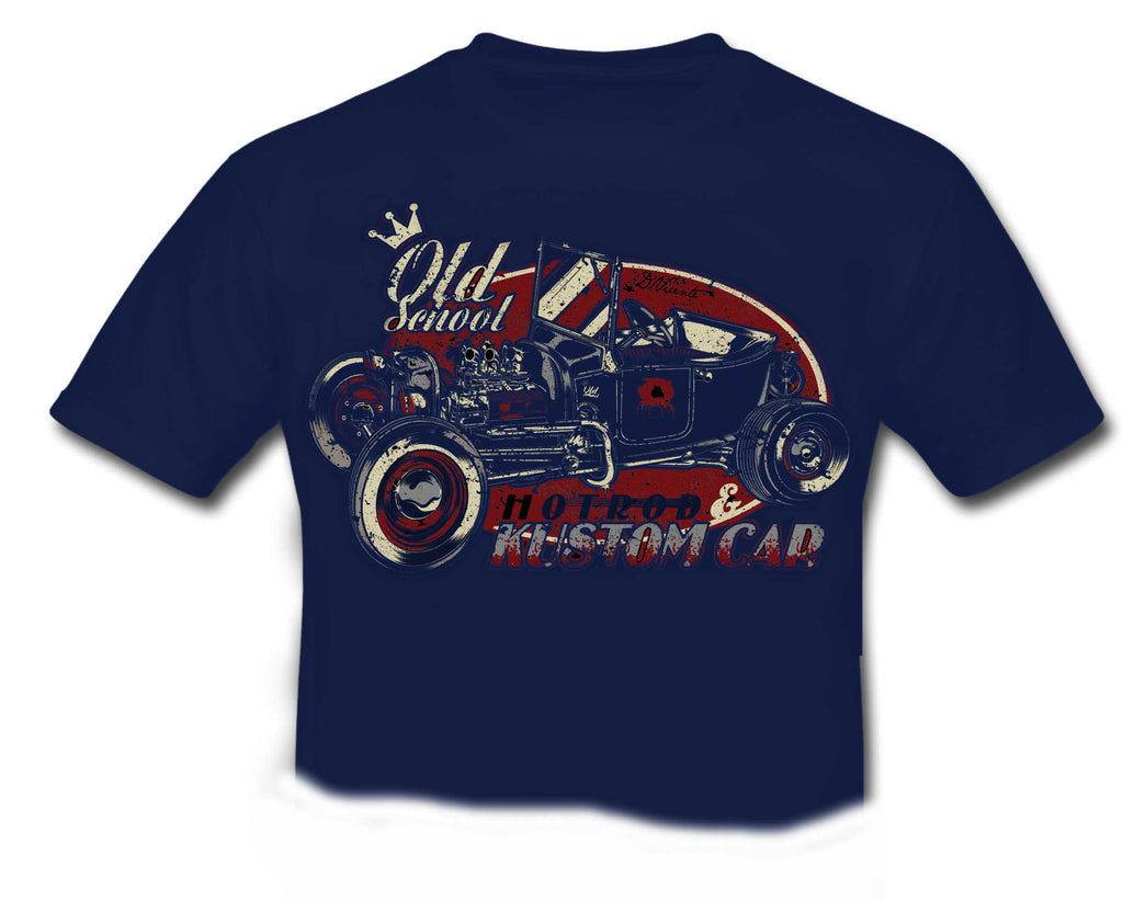 Old School KUSTOM HOT ROD Special Edition T-Shirt KIDS Dark Blue