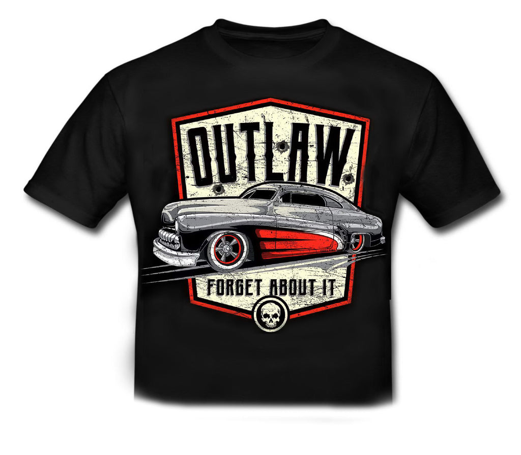 OUTLAW - FORGET ABOUT IT Hot Rod Official Licensed T shirt KIDS