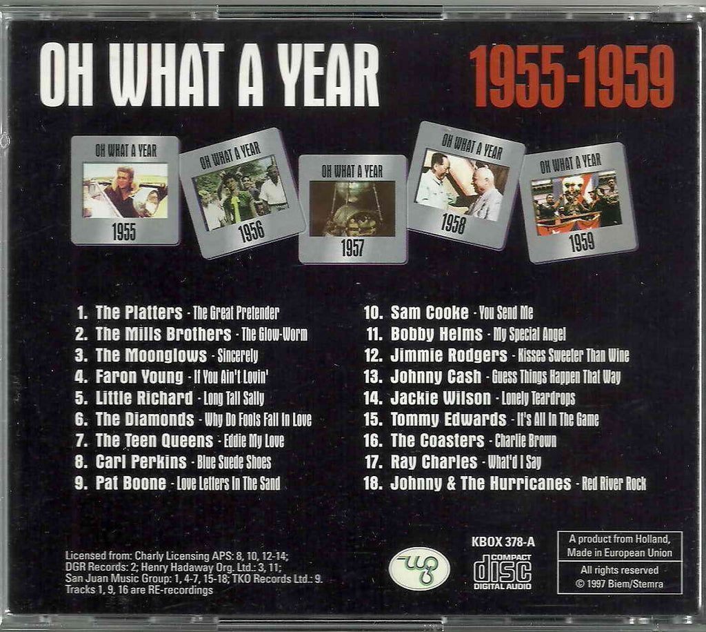 Various - OH WHAT A YEAR - 1955-1959 A CD Special Offer!