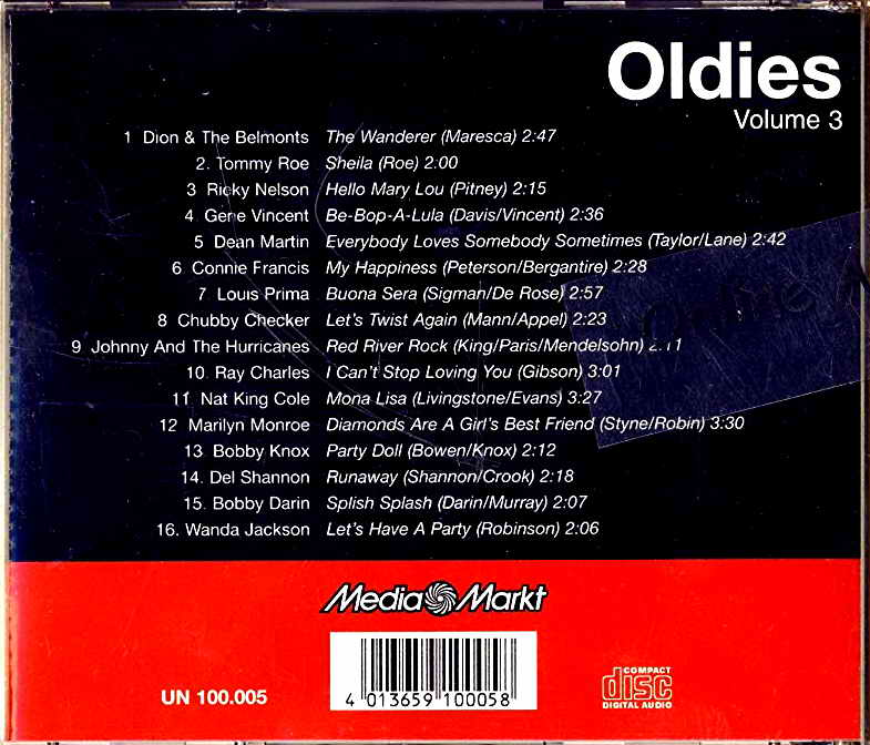 Various - OLDIES Volume 3 CD Special Offer!