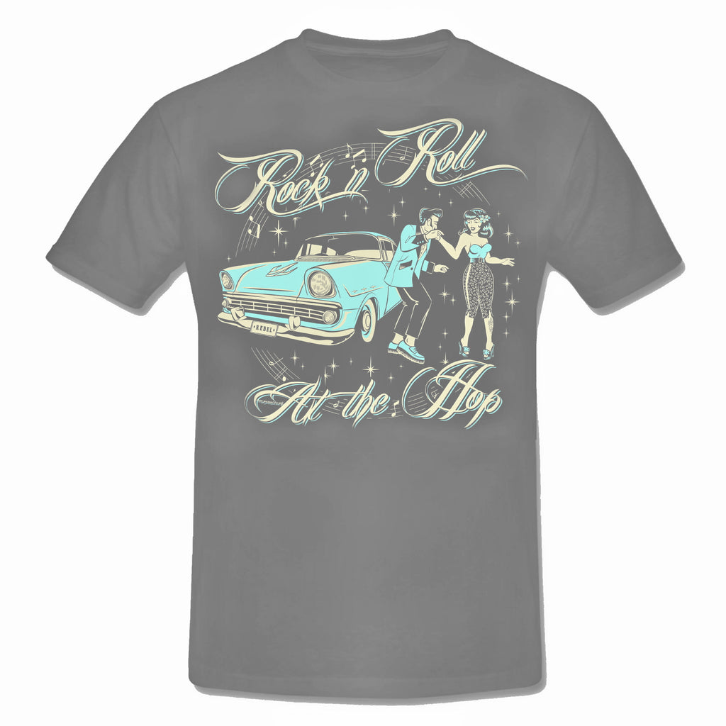 "ROCK N ROLL ""At The Hop"" Teddy Boy T-Shirt"