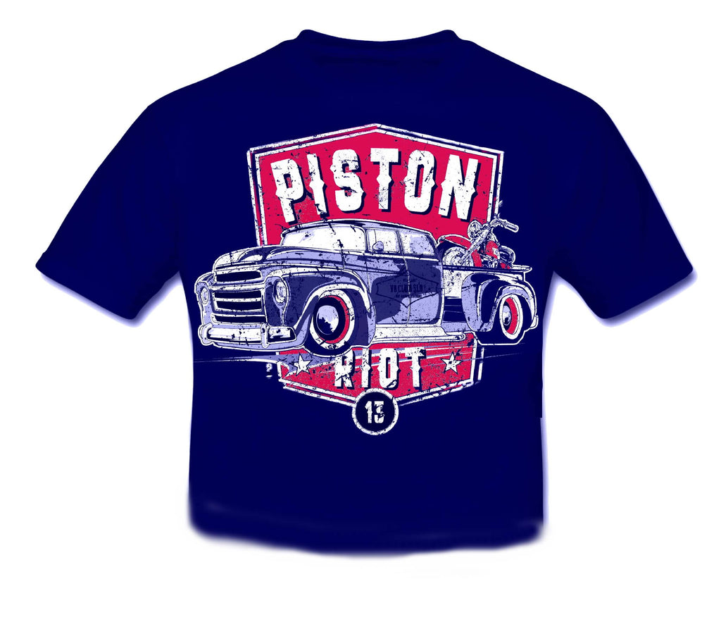 PISTON RIOT - HOT ROD Pick Up & Bike XIII T shirt KIDS