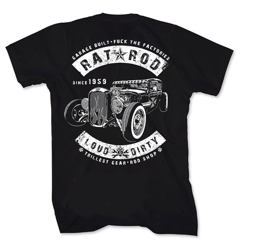 Rat Rod - LOUD & DIRTY II Special Edition MENS T-Shirt (Back)