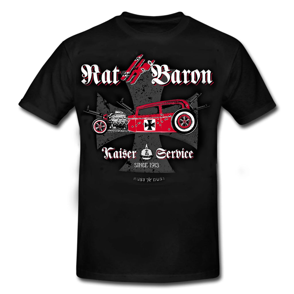 "RAT BARON ""Kaiser Service"" - HOT ROD Rockabilly T-Shirt"