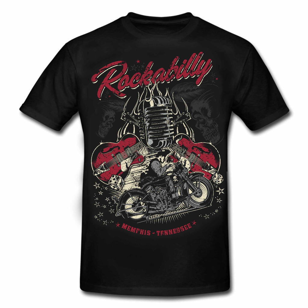 "ROCKABILLY ""MEMPHIS - TENNESSEE"" Greaser Biker Special Edition T-Shirt"