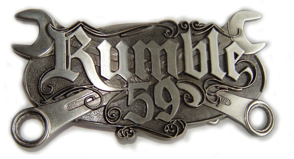 Rockabilly Special: RUMBLE V8 TOOLS Belt BUCKLE