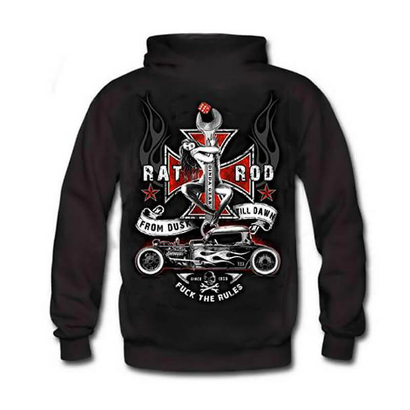 FROM DUSK TILL DAWN PIN UP-HOT ROD HOODIE Limited Edition