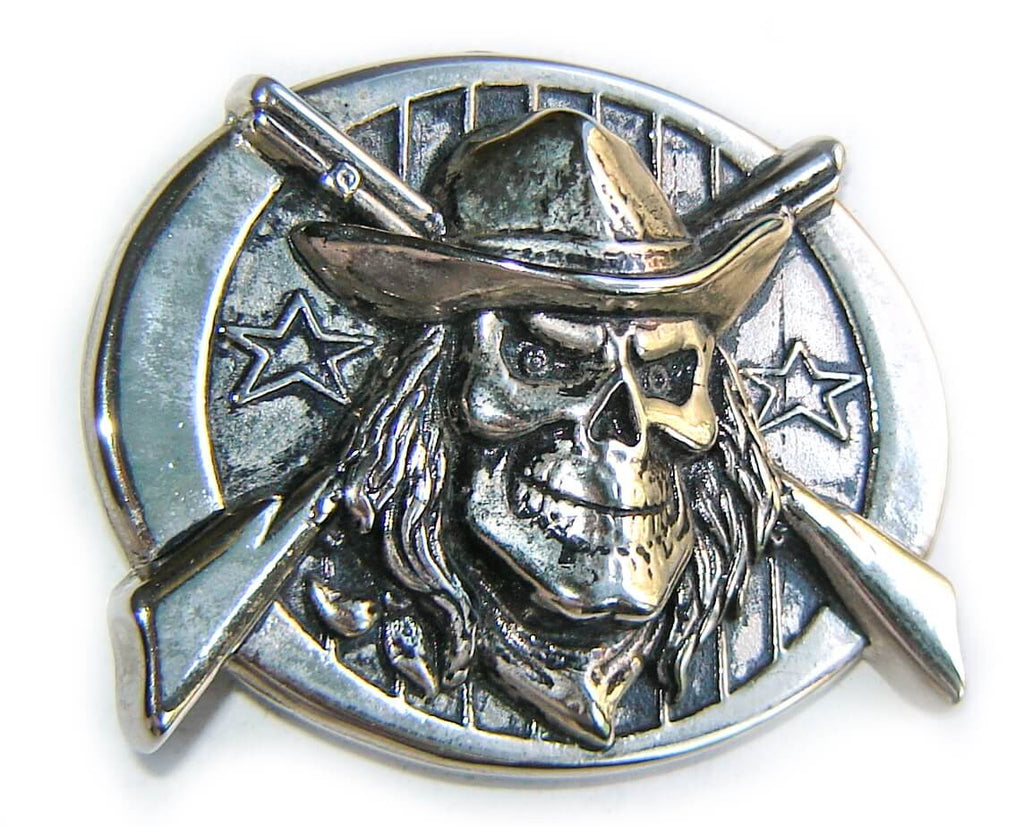 SKULL COWBOY Guns Belt BUCKLE