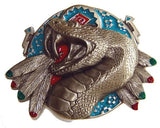 SNAKE INDIAN FEATHERS Belt BUCKLE