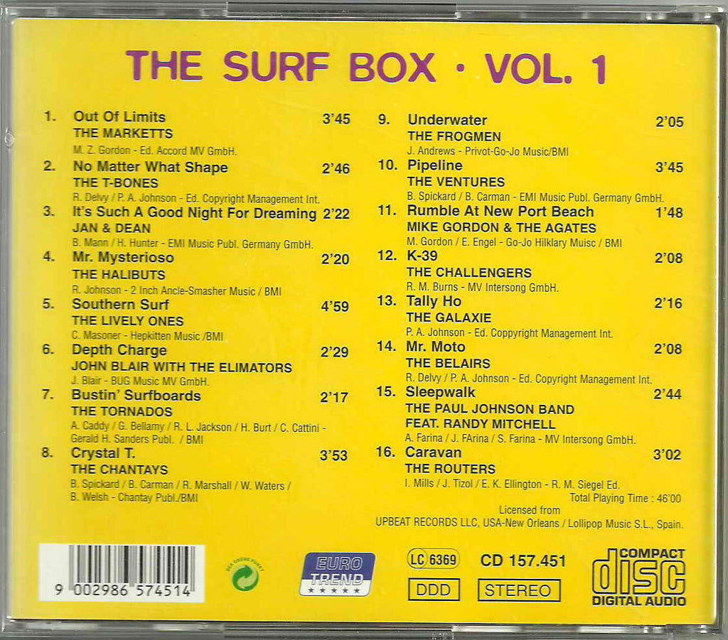 Various - SURF BOX (THE) - VOL. 1 Super Budget Price CD