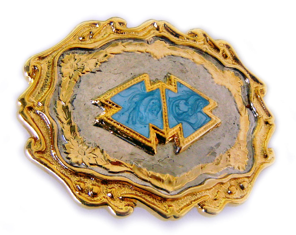 WESTERN SERIES: Cowboy BLUE ARROW STONE Belt BUCKLE