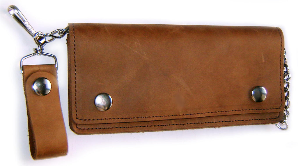 Leather WALLET BIKER Classic XL - LONG EDITION Made in USA !