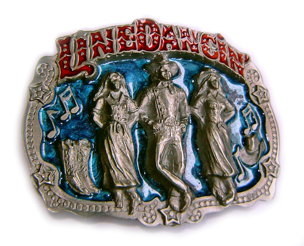 WESTERN SERIES: LINE DANCING Blue Belt BUCKLE