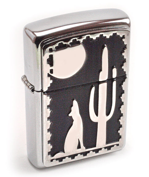 Zippo COYOTE HOWLING NOCTURNE (WOLF) SUPER 3D Detailed Massive Plate Special Series