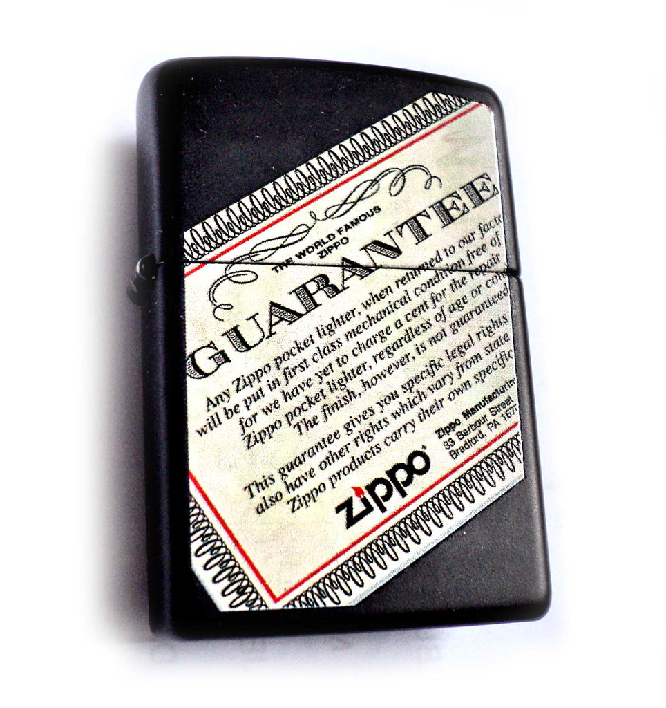 Zippo GUARANTEE LIFE TIME Special Collectors Masterpiece in one!
