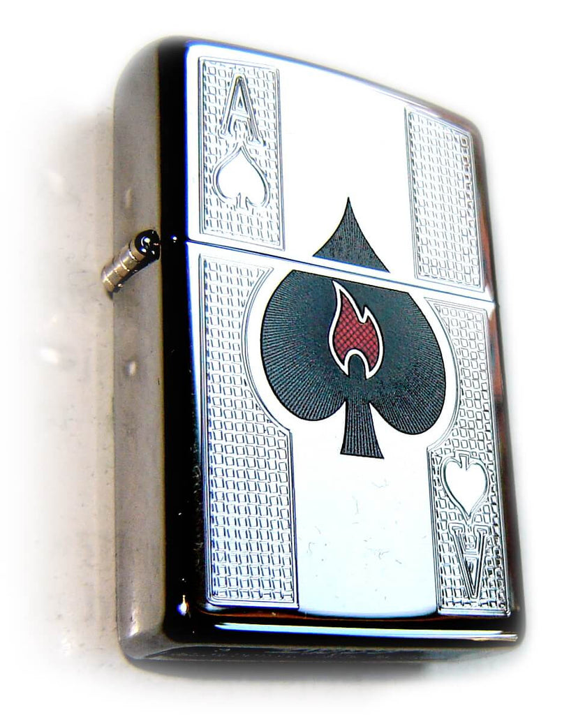 Zippo ACE OF SPADES & Little FLAME Special