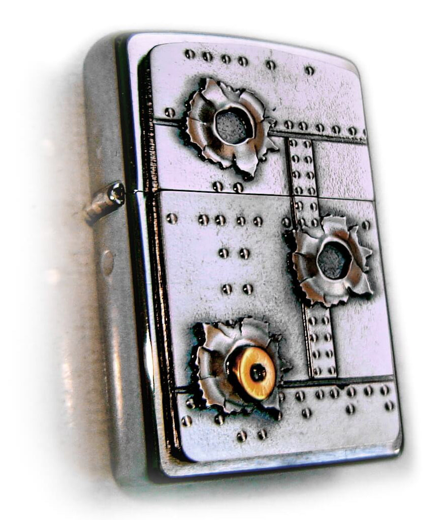 Zippo BULLET HOLES Massive Plate SPECIAL
