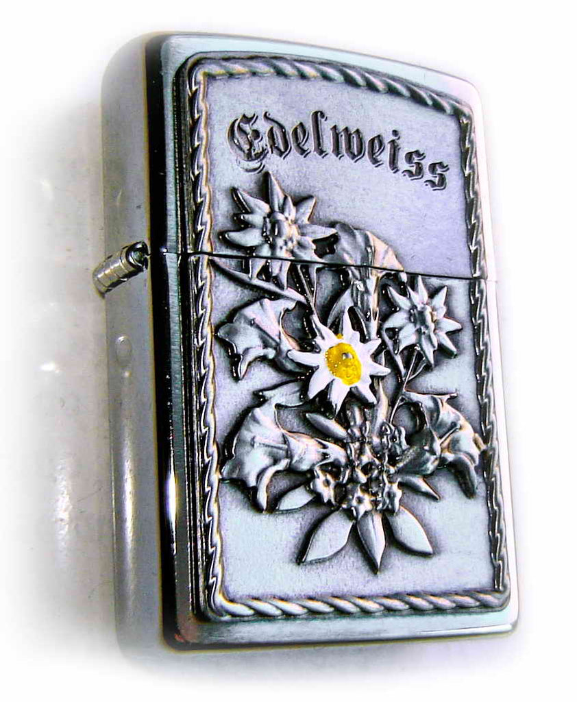 "Zippo EDELWEIS ""Sound of Music"" Massive Plate SPECIAL"