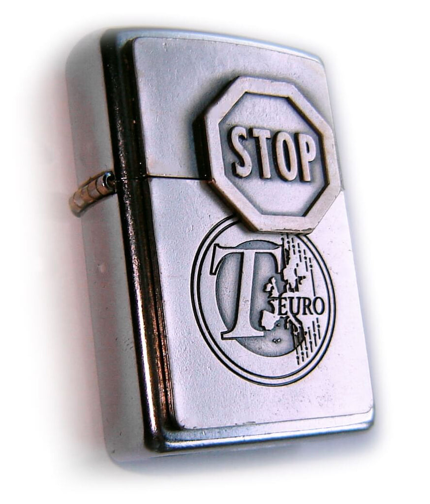 Zippo STOP EURO - Very UNUSUAL Limited Edition