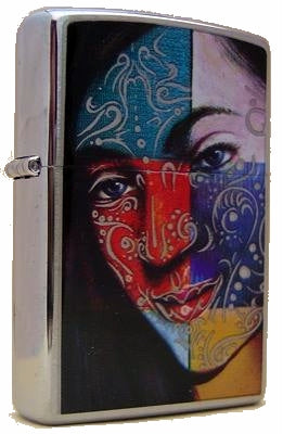 Zippo FACE PAINTING GIRL (Tattoo) Rare Collectible Discontinued SUPER SPECIAL OFFER
