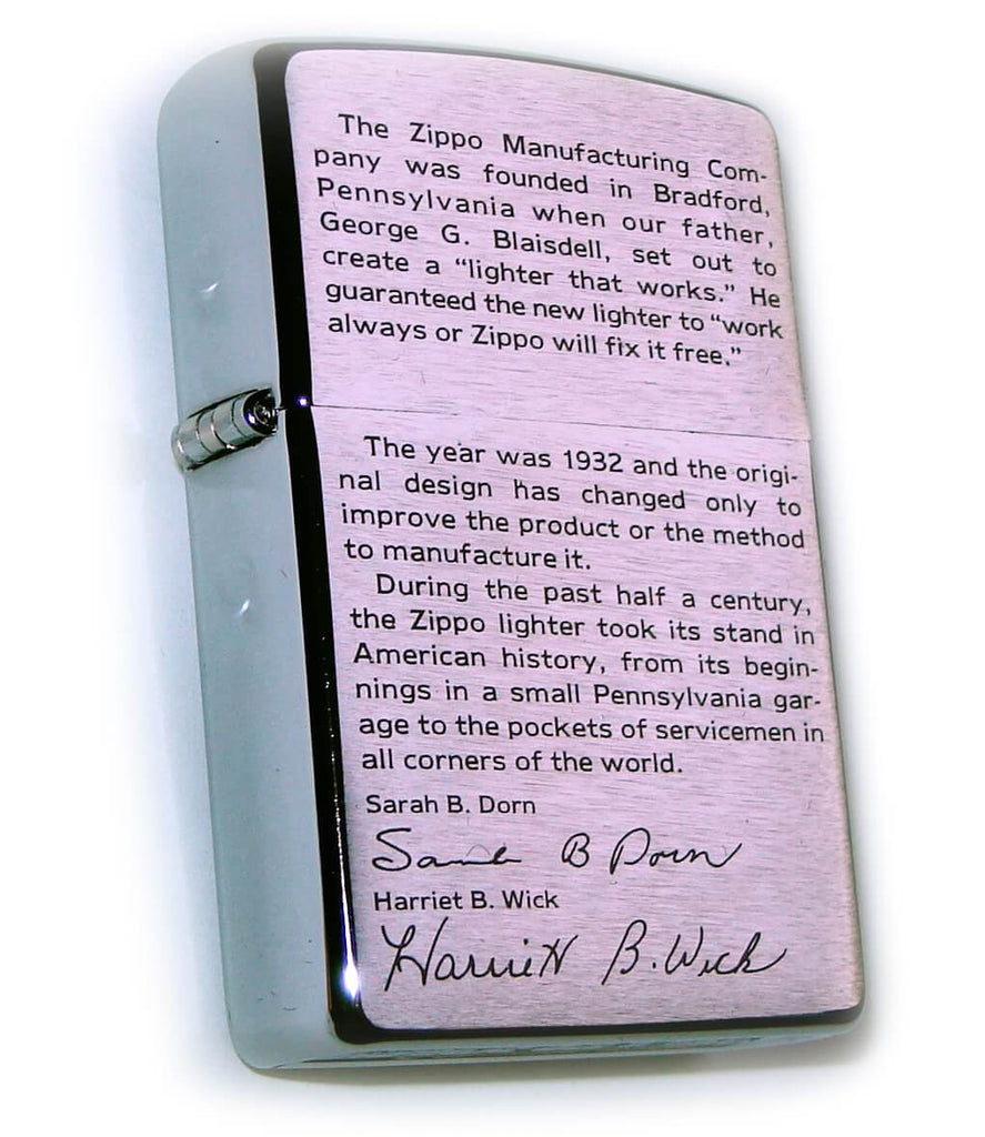 "Zippo ""LEGEND & STORY OF..."" Fantastic Summary by Sarah B. Dorn ..."