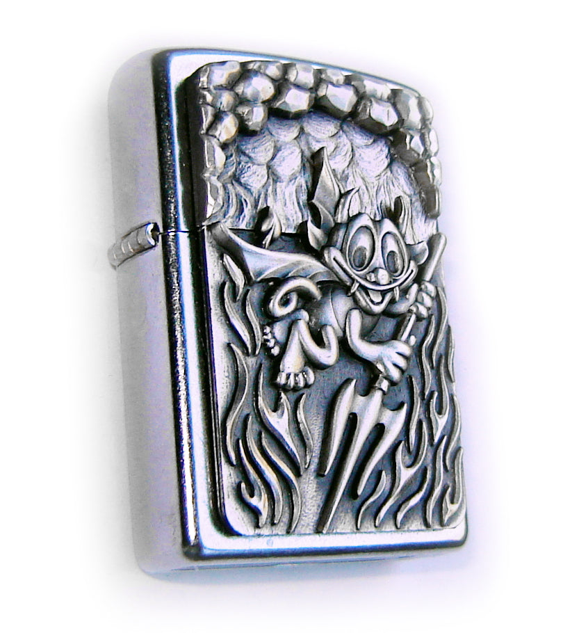 Zippo LITTLE DEV FUNNY 3D Beautiful Massive Plate SPECIAL