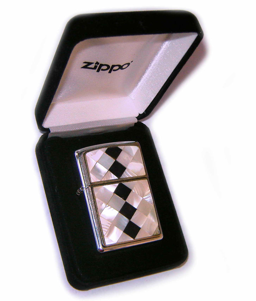 Zippo MOTHER OF PEARL - BLACK DIAMONDS PLATE Special Edition