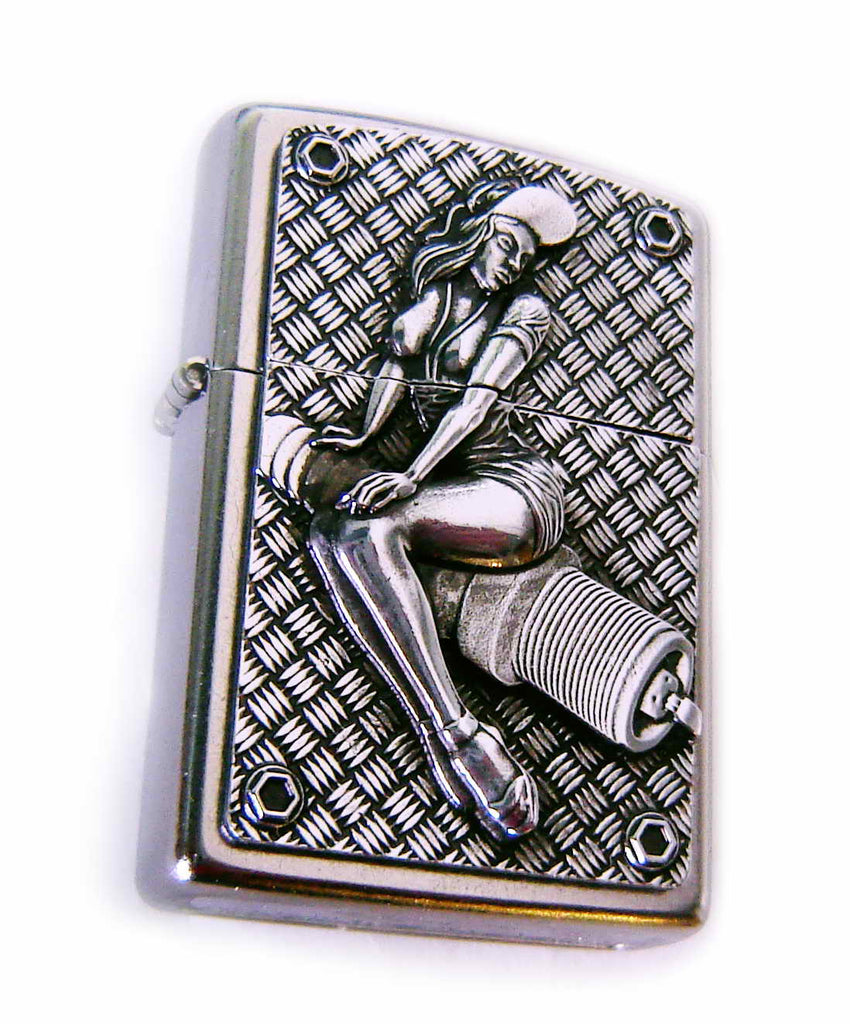 Zippo PIN UP SPARK GIRL MECHANIC Special 3D Massive Plate