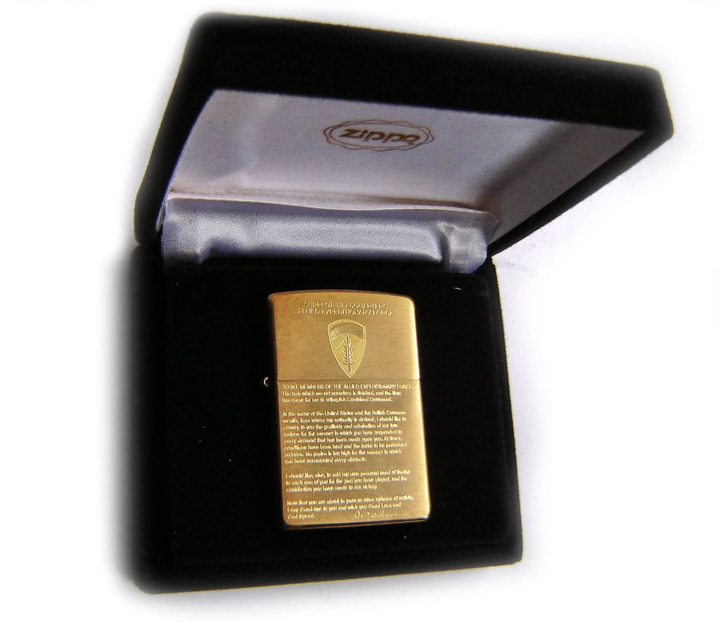 Zippo SUPREME HEADQUARTERS ALLIED EXPEDITIONARY FORCE Speach by Dweigh EinsenhoevrLimited Edition MEGA RARE