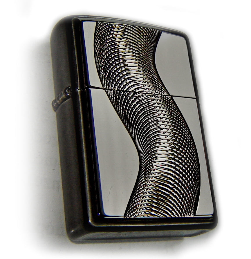Zippo TEXAS TWISTER  Superb BLACK ICE Rare Edition