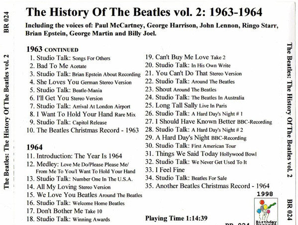 BEATLES (THE) - The History Of The Beatles Vol.2  Fantastic EXTREMELY RARE CD