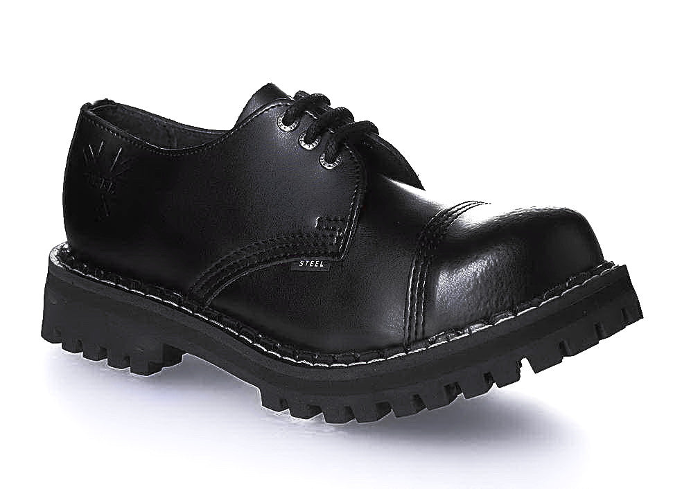 "BLACK ""THE CLASSIC"" 3-eyelet Shoes Steel Toe"
