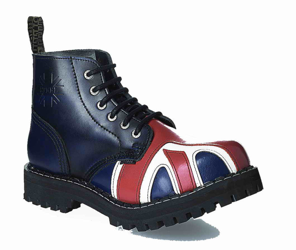 "BRITISH FLAG ""BREXIT SPECIAL"" 6-eyelet Shoes Steel Toe"